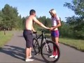 Teen and her bike sexy