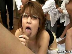 Horny Japanese teacher gets fucked and abused