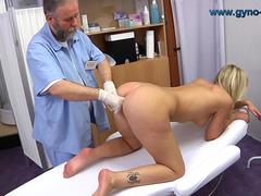 Gyno Exam of blonde girl