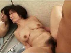 Mature bosomy Asian wife gets her hairy cunt ravaged