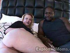 45 yr old Mature fucks Big Black Cock in Interracial Video