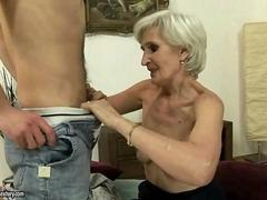 Very old granny fucking with young boy