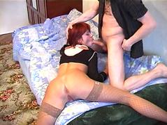 Drunk russian bitch and her asshole get violeted
