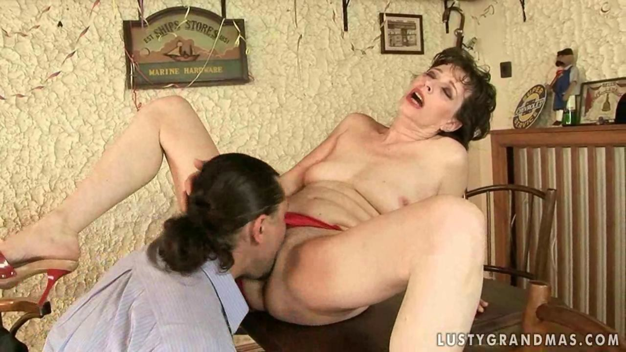 lusty granny gets her hairy pussy fuckedthe dude on gotporn