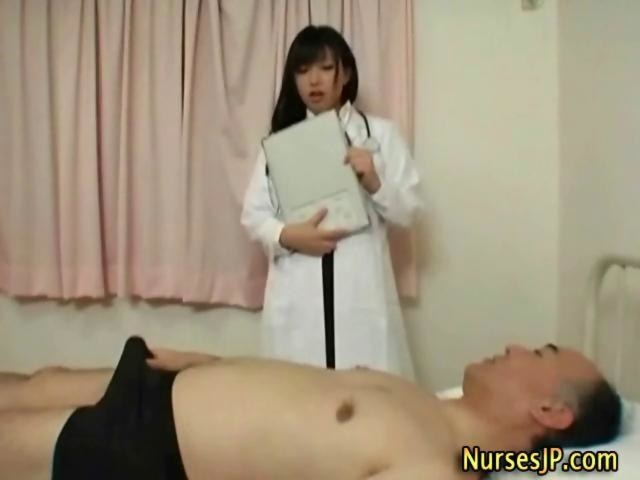 My nurse rubbing my cock