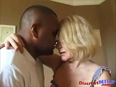Dirty grandma gets a ghetto black cock to try out