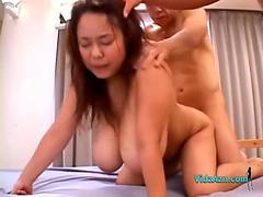 Fat Asian Girl With Huge Tits fucked By 2 Guys