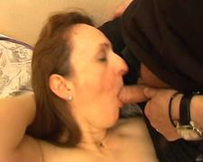 French mature milf Celine anal fucked interracialy