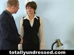 Dirty job interview for young secretary babe segment
