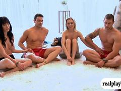Playboy TVs Foursome begging scenes