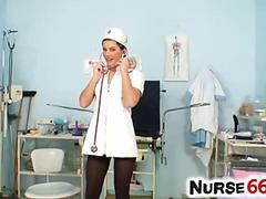 Rihanna Samuel takes off her nurse uniform to show pussy