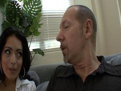 Nasty private teacher fucks gorgeous Latina in her hairy, wet pussy