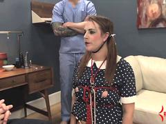 Deranged Dollie Alisha Adams gets face fucked, ass fucked, and eats ass and cum