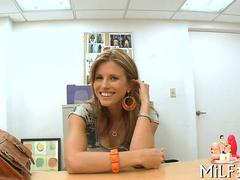 Amateur milf fucked in an agents office