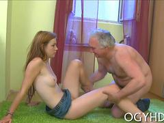 active gal blows old knob movie