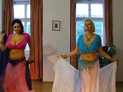hot babes are belly dancing like pros