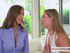 Lesbian milf rimmed by stepdaughter