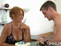 she almost falls off the bed getting fucked