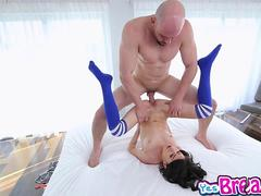 Kira Adams pussy fuck with her leg up going sideways
