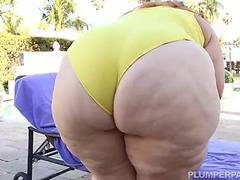 SSBBW Victoria Secret XXX Sucks and Fucks PoolSide