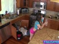 Slutty Daughter Seduces Plumber And Gets Pussy Fucked In POV