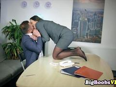 Sexy Secretary big tits Under The Table Deal