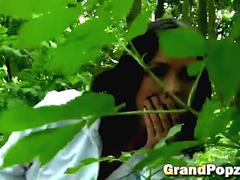 Picnic in woods with teen gone wild by banging