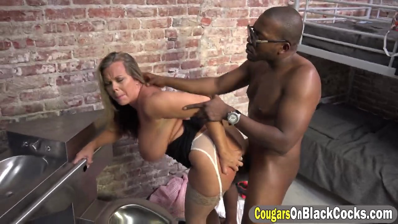 milf amber lynn bach riding black cock in prison on gotporn (6608411)