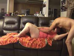 Horny Granny BBW Gets Drilled On Cam