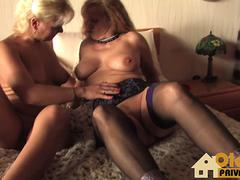 Two blonde grannies are up for pussy licking