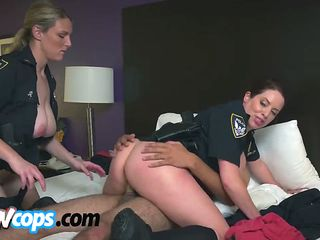glorious female cops with huge melons have insatiable pussies that need lubrication