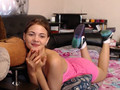 This cutie is teasing and touching her self in front of a webcam