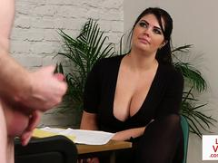 bigtitted british voyeur encourages her sub