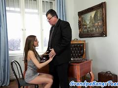 Busty eurobabe slammed hard by grandpa