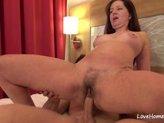 Big tits beauty spreads her legs for ramming