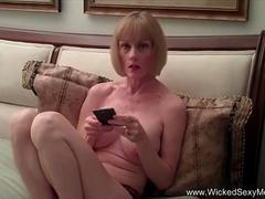 Amateur Granny Plays Whore For A Day