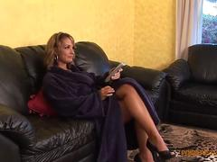 chubby brunette milf gets it from behind film