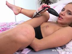 Wet Juicy Pussy - Sofi Goldfinger teases her pussy and ass with sex toys