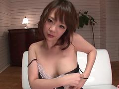 Busty Arisa Araki gets a full dick in her tiny pussy - More at Japanesemamas.com