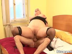 Curvy SSBBW pussyfucked in the bedroom