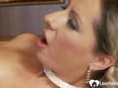 Anal penetration for an experienced milf in stockings