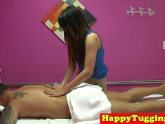 Teenage asian masseuse gets pounded