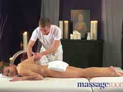 Massage Rooms Bubble butt Russian oiled up for sensual fuck