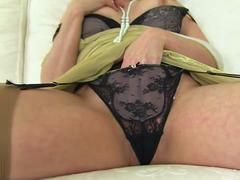 British MILF Karina Currie playing with herself