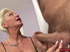 German milf hardcore and cum in mouth