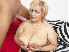 Busty BBW nailed by a young dude