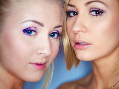 Cayla Lions and Tracy Lindsay licking each other out