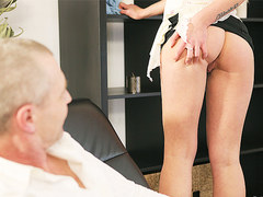 OLD4K. Playful blonde wanted to have fun with her older inamorato