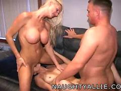 Naughty Allie Hardcore Threesome