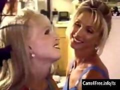 Incredibly Hot Lesbian Shemales Fuck Each Other!